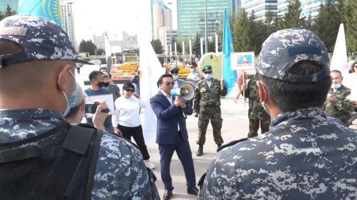 Екпеге қарсы азаматтар Нұр-Сұлтан қаласында митингке шықты
