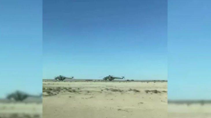 Қорғаныс министрлігі: «Маңғыстаудағы тікұшақтар Ауғанстанға ұшпайды»  (видео)
