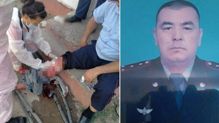 Түркістан облысында күдікті полиция капитанының аяғына пышақ салды