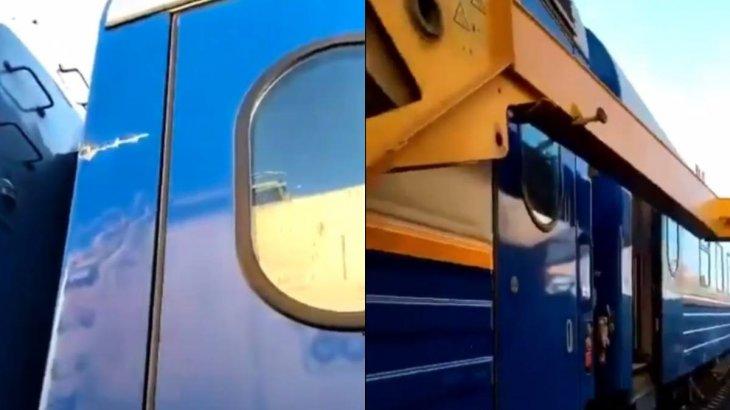 Ақтөбе облысында жолаушылар пойызына кран құлады
