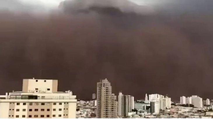 Бразилияның Франка қаласында құмды боран соқты (видео)