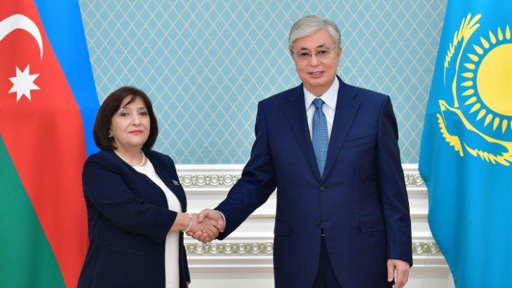 Тоқаев Әзербайжан Милли Мәжілісінің спикері Сагиба Гафарованы қабылдады