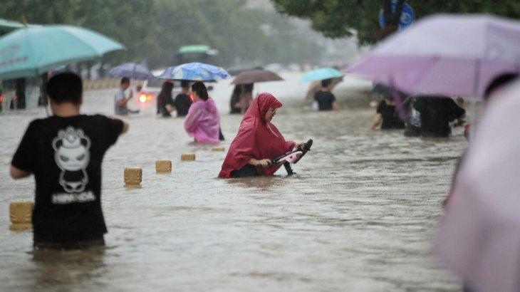 Қытайда толассыз жауын салдарынан бірнеше қаланы су басты