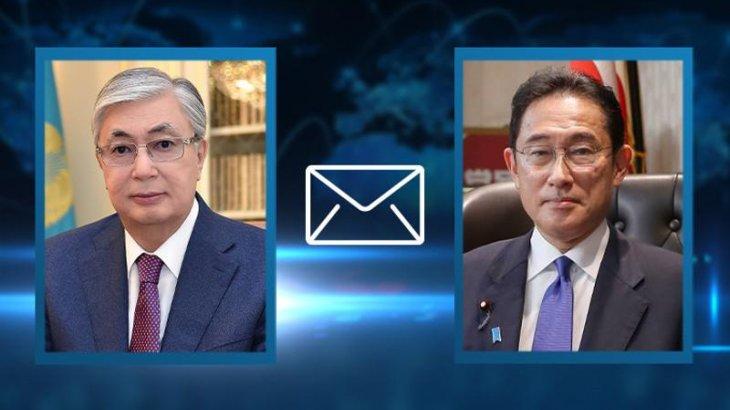 Тоқаев Жапонияның Премьер-министріне жеделхат жолдады